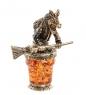 AM-2213 Фигурка «Баба Яга»  латунь, янтарь