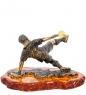 AM-2215 Фигурка «Футболист»  латунь, янтарь