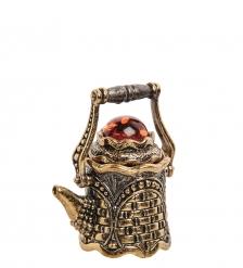 AM-2232 Наперсток «Чайник Крепость»  латунь, янтарь