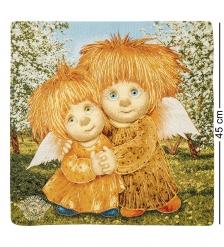 ANG-579 Наволочка гобеленовая Ангелы единения 45х45