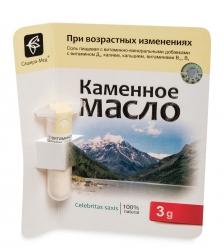 MED-13/04 «Каменное масло» с витамином Д3, калием, кальцием, витаминами В12, В9, 3,0 г