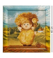 ANG-587 Гобелен в расписной раме  Ангел крепкого здоровья  35х35