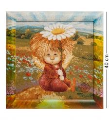 ANG-588 Гобелен в расписной раме  Ангел надежды и веры  35х35