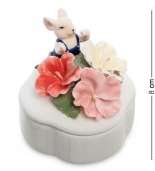 CMS-62/ 5 Шкатулка «Мышонок с цветами»  Pavone