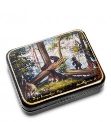 ШК-55/128 Шкатулка  Утро в сосновом лесу