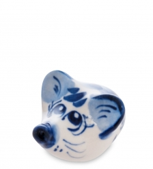 ГЛ-539 Фигурка «Мышка Тося»  Гжельский фарфор