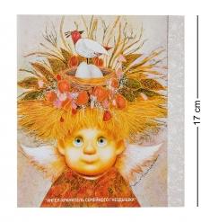 ANG-611 Открытка  Ангел хранитель семейного гнездышка  15х17