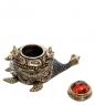 AM-2245 Фигурка «Чайник Черепаха»  латунь, янтарь