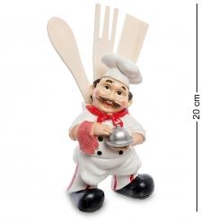HF-56/2 Фигурка  Повар с вазой и кухонной утварью
