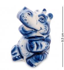 ГЛ-576 Фигурка «Бегемот»  Гжельский фарфор