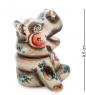 ГЛ-577 Фигурка  Бегемот  цв.  Гжельский фарфор
