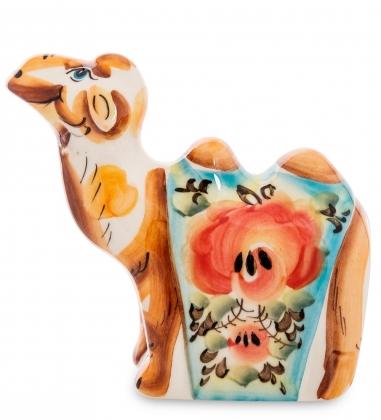 Первая фотография ГЛ-587 Фигурка  Верблюд  цв.  Гжельский фарфор