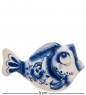 ГЛ-598 Подставка для зубочисток  Рыба   Гжельский фарфор