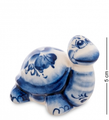 ГЛ-600 Фигурка  Черепаха   Гжельский фарфор