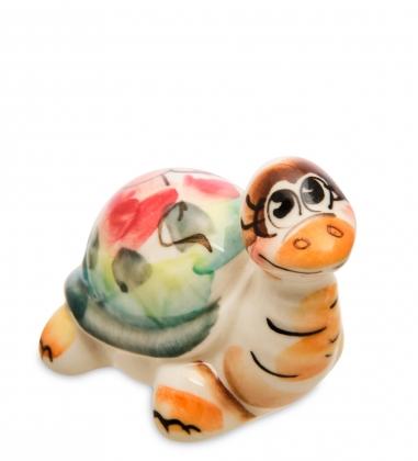 ГЛ-601 Фигурка  Черепаха  цв.  Гжельский фарфор