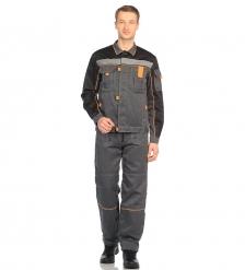 ЯЛ-02-07 Костюм куртка/полукомб. р.44-46, рост 170-176, серый