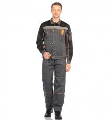 ЯЛ-02-07 Костюм куртка/полукомб. р.52-54, рост 170-176, серый