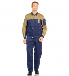 ЯЛ-02-09 Костюм куртка/полукомб. р.52-54, рост 170-176, темно-синий