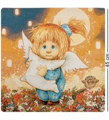 ANG-631 Наволочка гобеленовая Ангел-хранитель сладких снов 45х45