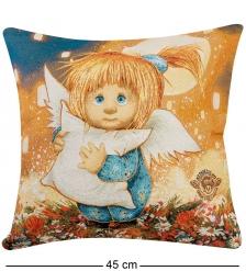 ANG-631/1 Подушка гобеленовая «Ангел-хранитель сладких снов» 45х45