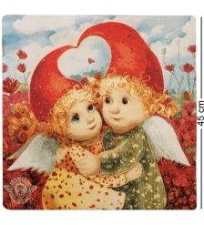 ANG-632 Наволочка гобеленовая «Вечная любовь» 45х45