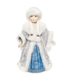 RK-317 Кукла  Снегурочка со снежком  мал.