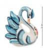 ГЛ-618 Фигурка  Лебедь  цв.  Гжельский фарфор