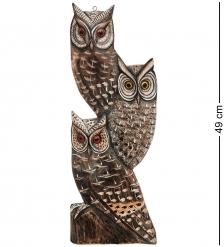 89-055 Панно «Три совы»  о.Бали