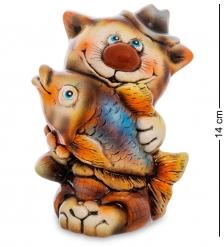 АБ- 02 Фигурка керамическая  Кот рыболов