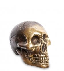 24-105 Фигура  Череп  бронза  о.Бали