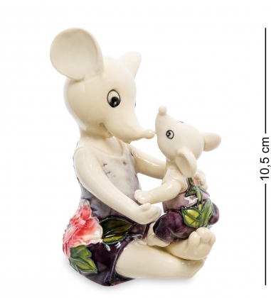 JP-121/11 Фигурка Мышь с малышом  Pavone