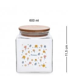 GS-15/1 Банка для сыпучих «Вальс цветов» 600мл