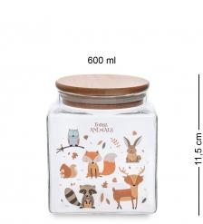 GS-16/1 Банка для сыпучих «Зверюшки» 600мл