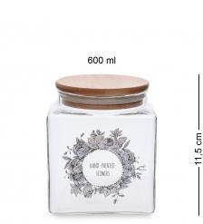 GS-17/1 Банка для сыпучих «Цветочное очарование» 600мл