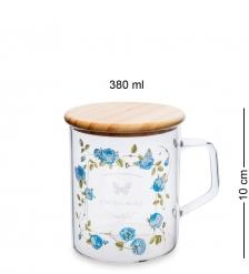 GS-46/1 Кружка с крышкой Розовый сад 380мл