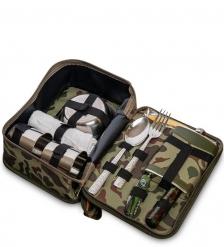 GT-50 Подарочный набор фляжка 250 мл со столовыми приборами Турист