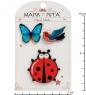 MR- 91 Н-р брошей с цанговым зажимом бабочка  Покорители неба  Mark Rita