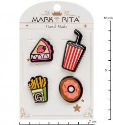 MR-100 Н-р брошей с цанговым зажимом бабочка  Сладость в радость  Mark Rita