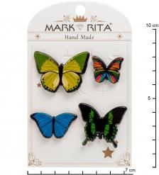 MR-103 Н-р брошей с цанговым зажимом бабочка «Бабочки» Mark Rita