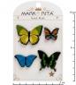 MR-103 Н-р брошей с цанговым зажимом бабочка  Бабочки  Mark Rita