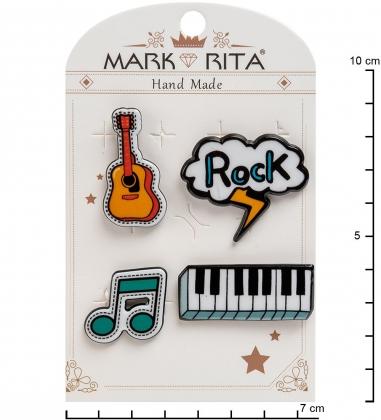 MR-104 Н-р брошей с цанговым зажимом бабочка  Рок-стиль  Mark Rita
