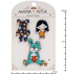 MR-105 Н-р брошей с цанговым зажимом бабочка  Мое детство  Mark Rita