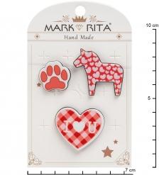 MR-106 Н-р брошей с цанговым зажимом бабочка  Любовь к животным  Mark Rita