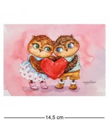 SZ-121 Почтовая открытка  Любовь навсегда