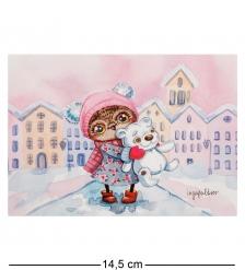 SZ-130 Почтовая открытка  Снежный город