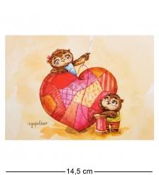 SZ-132 Почтовая открытка  Крепкой семье - большая любовь