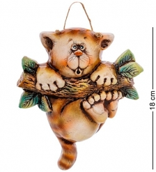 АБ-49 Панно керамическое  Кот на ветке