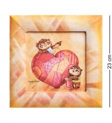 SZ-154 Жикле в расписной раме «Крепкой семье - большая любовь» 16х16