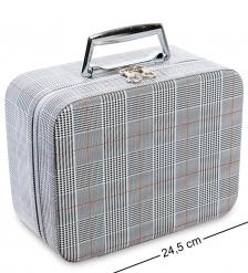 JL-01/5-L Шкатулка-чемодан большая  Стильная клетка