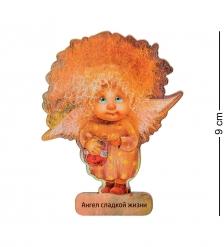 ANG-728 Магнит деревянный  Ангел сладкой жизни